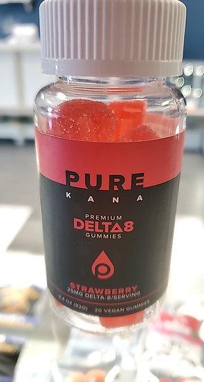 Purekana D8 strawberry gummy