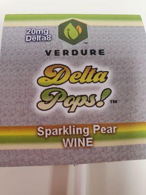 Sparkling Pear wine lollipop