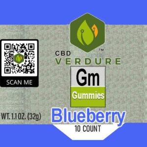 Delta 8 blueberry gummie
