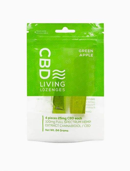 Green Apple Lozenges 4 pack 25 mg each