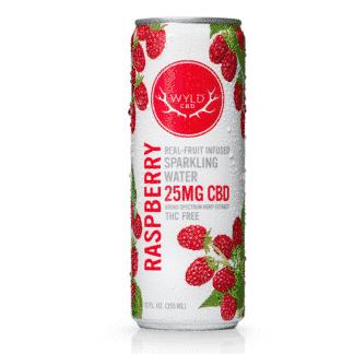 WYLD Sparkling Raspberry Water 25mg