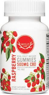 Wyld Raspberry gummies 500 mg