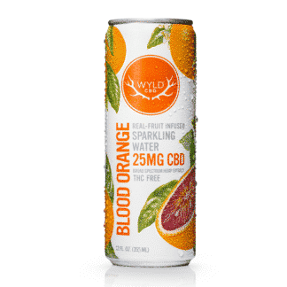 WYLD Sparkling Blood Orange Water 25 mg