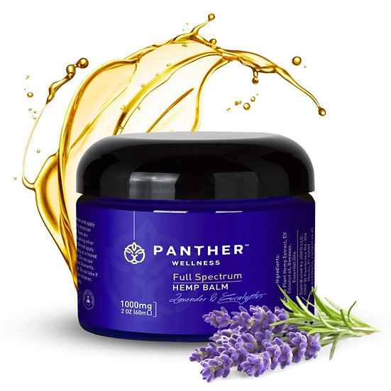 Panther Wellness 1000mg lav & euc Balm