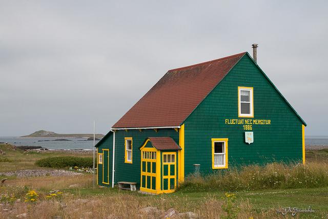 Maison verte à l'Ile aux Marins