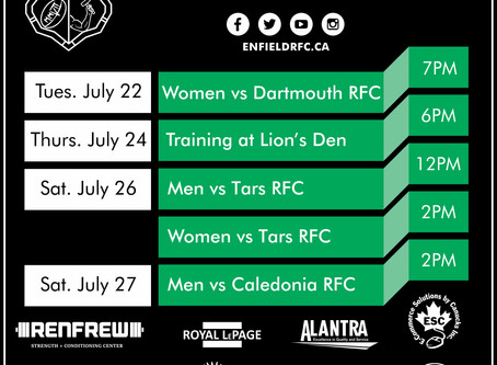 This Week with Enfield RFC: July 22