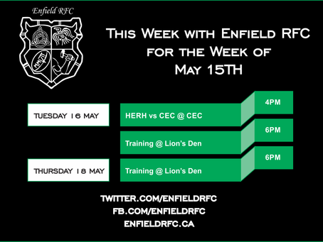 This week with Enfield RFC: May 15th, 2017