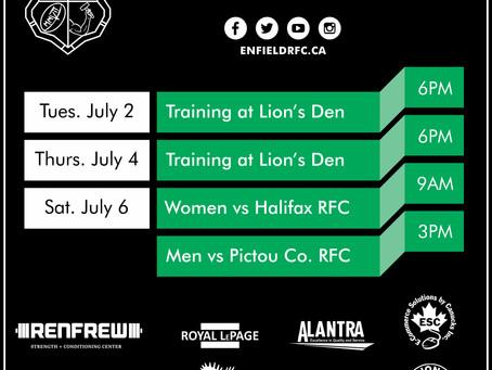 This Week with Enfield RFC