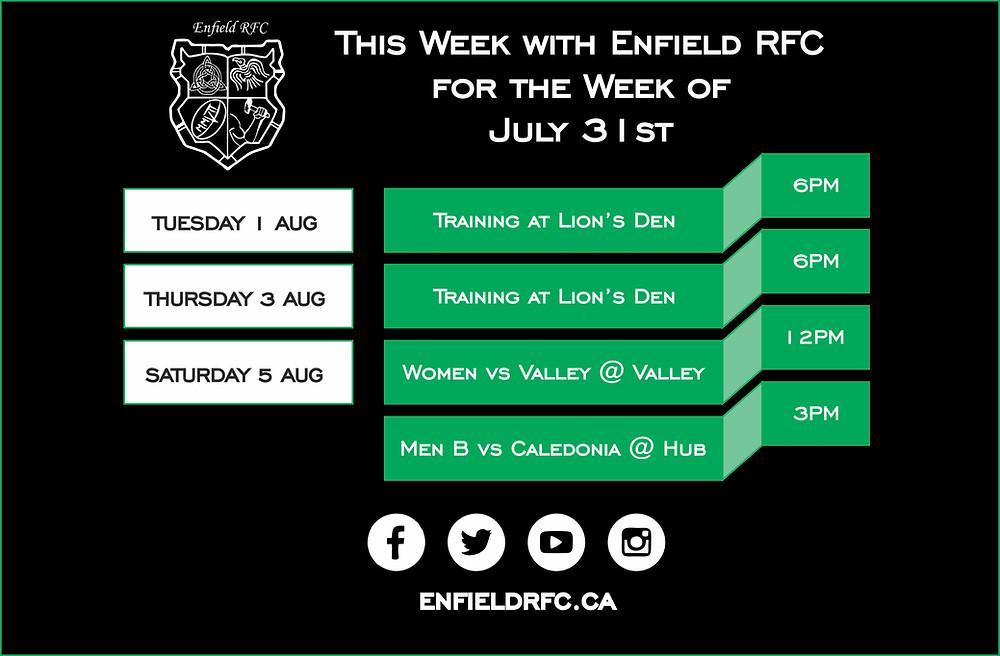 Enfield RFC July 31st, 2017