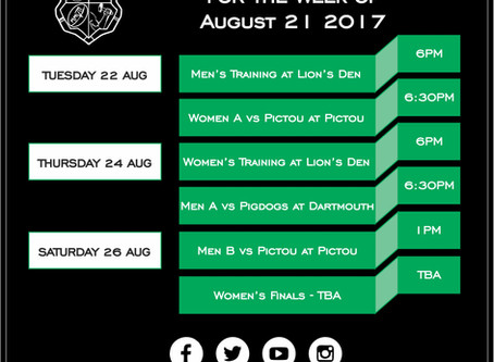 This week with Enfield RFC: August 21st