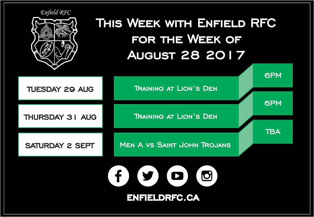 Enfield RFC August 28, 2017