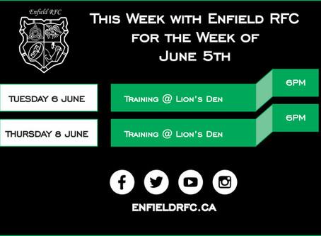 This week with Enfield RFC: June 5th, 2017