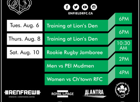 This Week with Enfield RFC: August 5, 2019