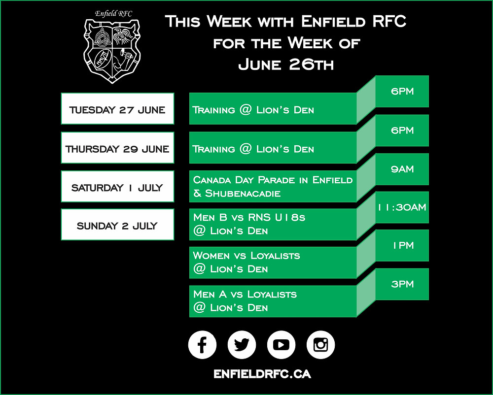 Enfield RFC June 26, 2017