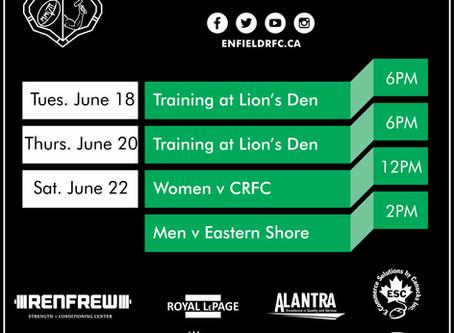 This Week with Enfield RFC : June 17, 2019