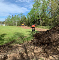 Clearing for trail and try zone