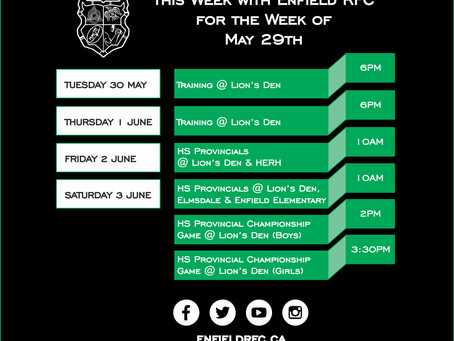 This week with Enfield RFC: May 29th