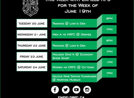 This week with Enfield RFC: June 19, 2017
