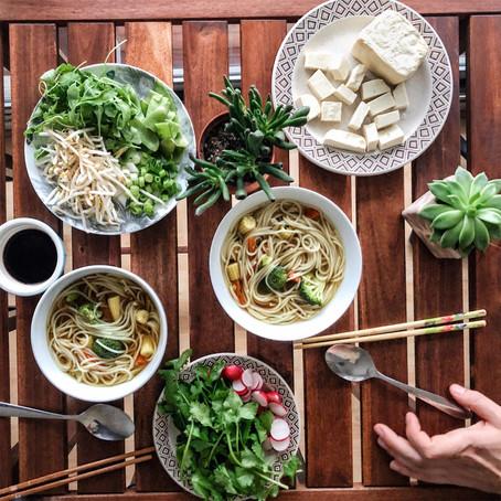 Leftovers saving noodle soup