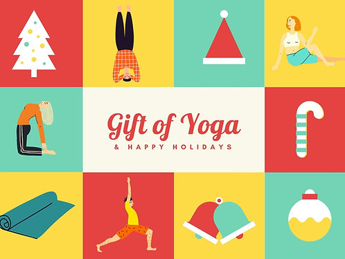 Gift of Yoga (colourful block)