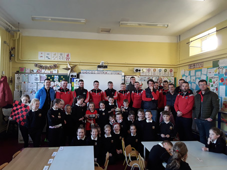 Leinster Champions, Mattock Rangers, arrive in to share their celebrations and success.