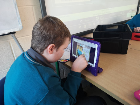 Sixth class taking technology into the classroom.