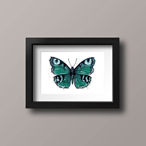 Beautiful Butterfly, emerald green and turquoise