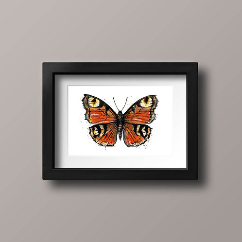 Beautiful Butterfly, red and orange