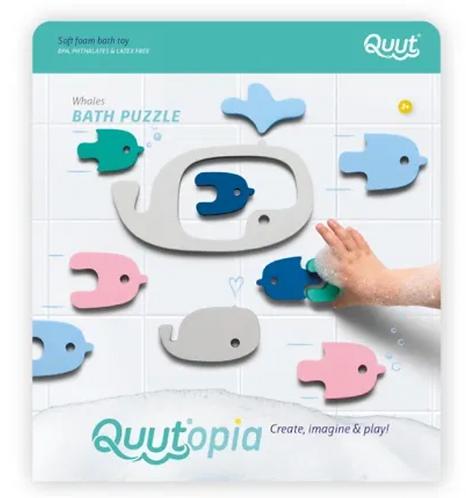 Puzzle de bain baleines