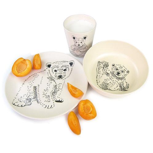 Set vaisselle bambou - Ourson