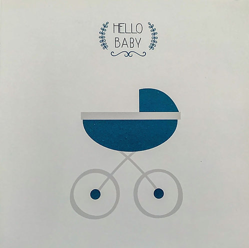 Carte Félicitations - Hello Baby - Boy