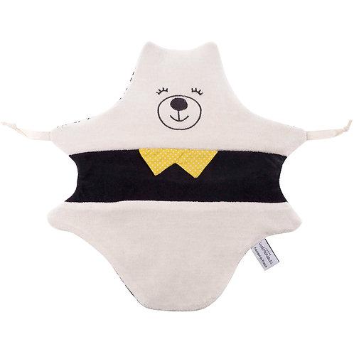 Doudou ours - noir et blanc