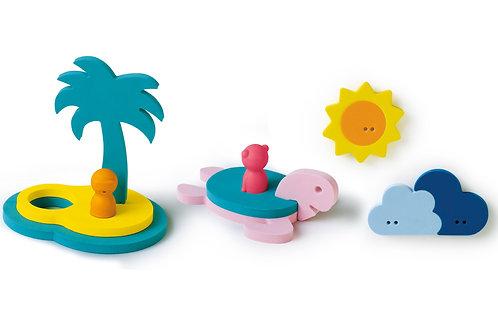 Puzzle de bain îles