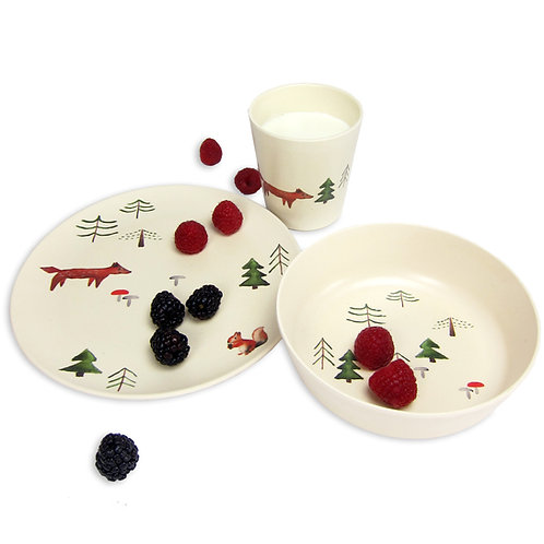 Set vaisselle bambou - Renard