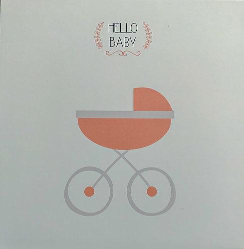 Carte Félicitations - Hello Baby - Girl
