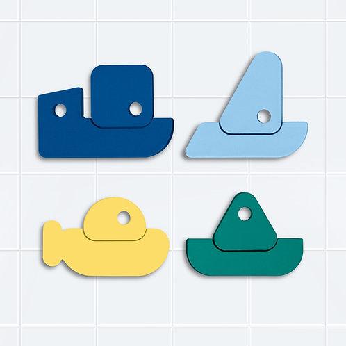 Puzzle de bain bateaux