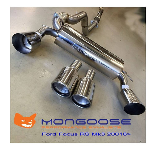 MONGOOSE CAT-BACK SYSTEM FOCUS RS MK3
