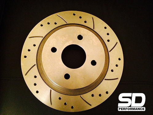 SD Performance Fiesta MK6 280mm rear conversion Performance discs - Drilled and