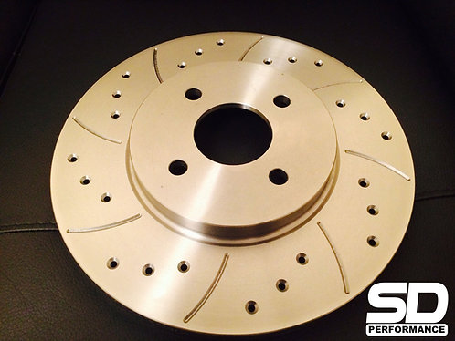 SD Performance Fiesta MK6 300mm conversion Performance discs - Drilled and Groov