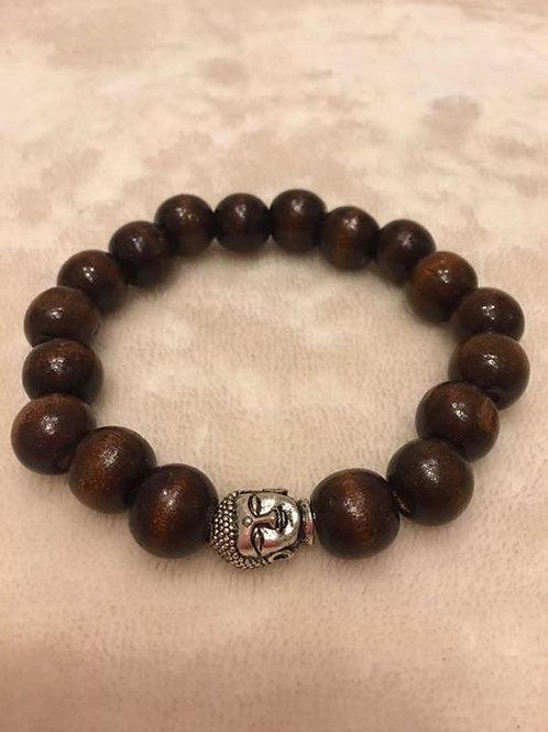 Wooden Buddha Bracelet