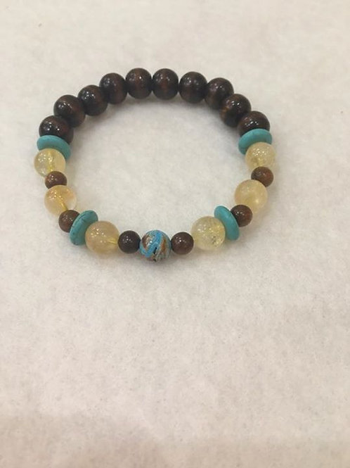 Citrine and Turquoise Bracelet