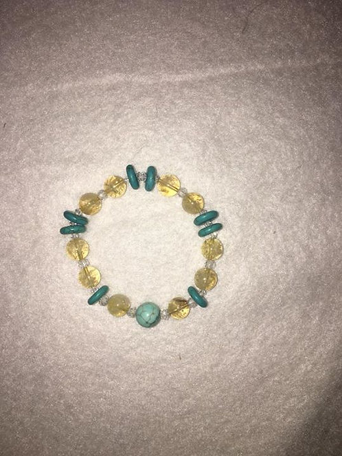 Turquoise and Citrine Bracelet