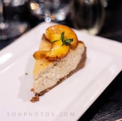 LJ's lemon cheese cake with peach