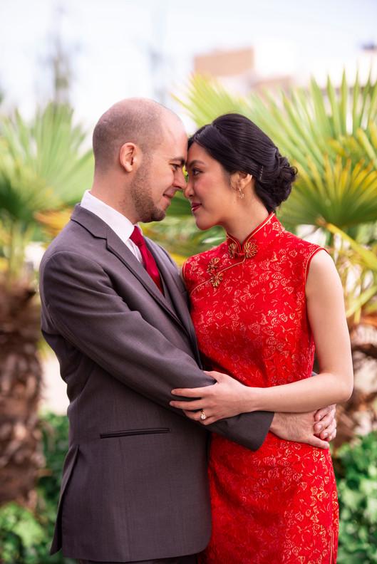 Stunning bride in red