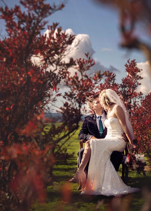 Sunny wedding day