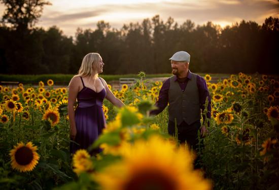 Sunflower engagement