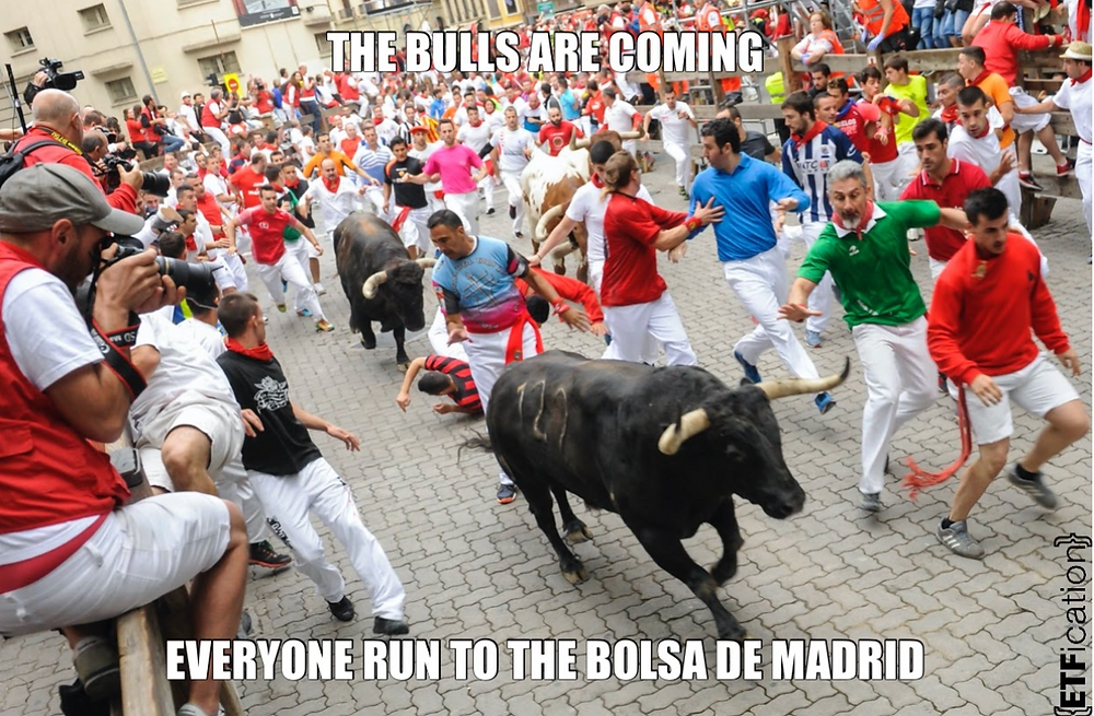 Spain running with the bulls