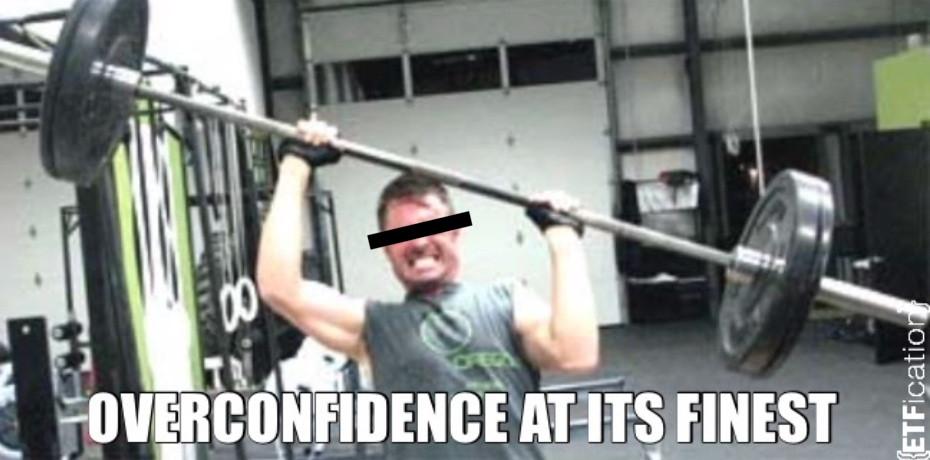 funny gym meme, overconfident guy at gym