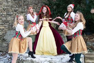 Christmas Elves and Princess Belle Holiday Caroling