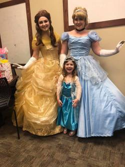 Beauty, Slipper Princess, and friend